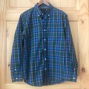 IZOD boys button front plaid shirt Sz XL (16/18)